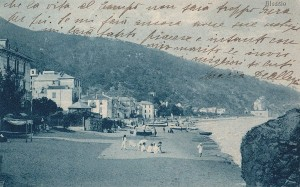Alassio in una cartolina d'epoca