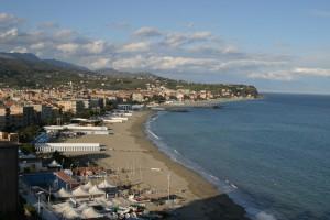 la spiaggia di Albissola Marina