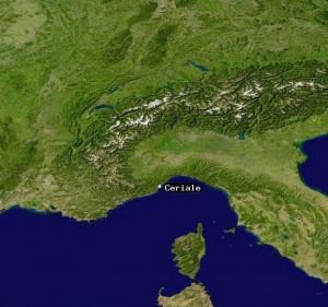 la posizione di Ceriale sulla cartina geografica