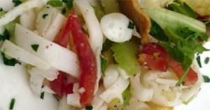insalata di totani e pinoli