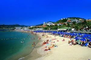 la spiaggia di Pietra Ligure