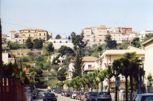 la zona collinare del centro di Giulianova