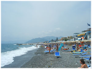 la spiaggia di Lavagna