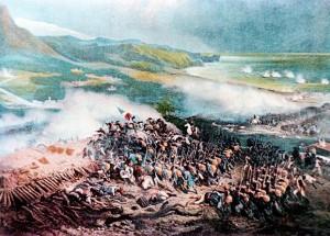 la battaglia di Loano in un dipinto d'epoca