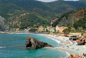 la spiaggia di Monterosso al Mare