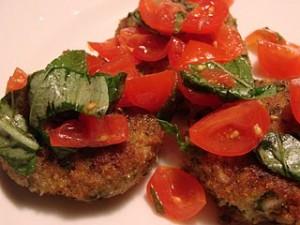 polpette di cernia con insalata di pomodorini