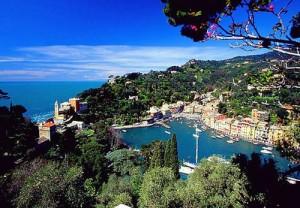 vista panoramica di Portofino