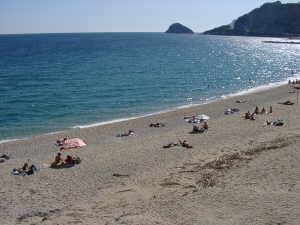 la spiaggia di San Lorenzo al Mare