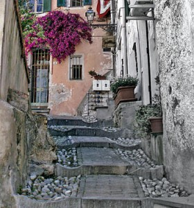 uno scorcio del centro storico di Sanremo