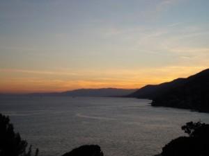 un tramonto suggestivo a Recco