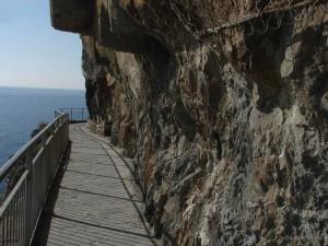 un tratto della Via dell'Amore che attraversa Manarola