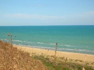 un tratto di costa nei pressi di Casalbordino