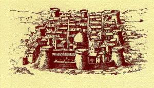 un'incisione storica di Giulianova