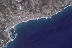 veduta satellitare di Varazze
